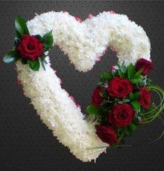 Hearts & Cushions - Azalea - Beautiful flowers for any occasions - Aberdeen… Casket Flowers, Grave Flowers, Cemetery Flowers, Church Flowers, Funeral Flowers, Wedding Flowers, Silk Flowers, Funeral Floral Arrangements, Flower Arrangements