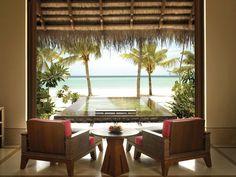 Beach Villa mit Pool. reetih rah