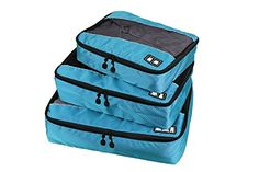 Double Sided Travel Packing Cubes Set With Clean Dirty Compartments  3 Piece Travel Accessories Set ** Want to know more, click on the image.