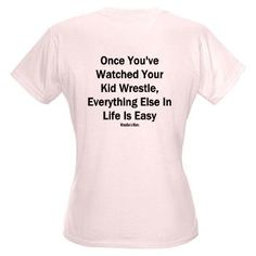 Wrestling Mom Shirt - Watching your child wrestle is very intense!