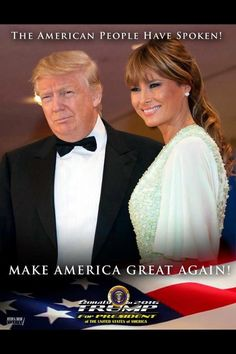 Mr. & Mrs. Donald Trump!!! Love to both of you. Thank you Melania for supporting your husband. Such love!!!