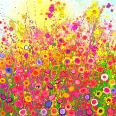 Painting by Yvonne Coomber Acrylic Painting For Beginners, Motif Floral, Art For Art Sake, Love Art, Oeuvre D'art, Painting Inspiration, Painting & Drawing, Watercolor Art, Canvas Wall Art