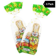 6 Pack Riegelein Authentic German Easter Chocolate Bunnies 3.5 oz