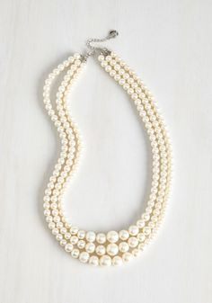 And Gem What? Necklace - White, Pearls, Special Occasion, Wedding, Party, Work, Holiday Party, Bridesmaid, Bride, Vintage Inspired, Better