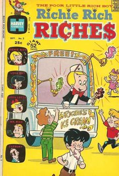 A cover gallery for the comic book Richie Rich Riches Vintage Disney Posters, Vintage Comic Books, Vintage Cartoon, Vintage Comics, Bedroom Wall Collage, Photo Wall Collage, Picture Wall, Room Posters, Poster Wall