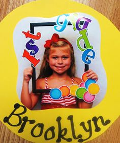 Cute picture for the beginning of the year. Hand these out during open house!