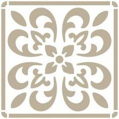 Stencil Mini Deco Fondo 070 Azulejo Iberia 05 Stencil Patterns, Stencil Designs, Piping Templates, Stencil Painting, Stenciling, Paper Ornaments, Letter Stencils, Mural Art, Flower Shape