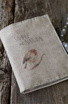Fresh Farmhouse cloth journal cover