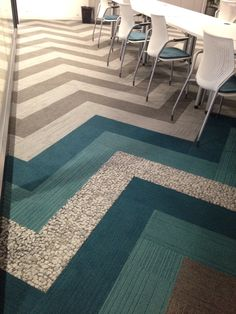 66 best Carpet Tile images on Pinterest   Carpet tiles  Flooring and     Interface Carpet Tile   On Line in a Chevron pattern with Human Nature