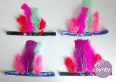 Vincha plumas piedras colores Casamientos Cotillon Bodas Eventos