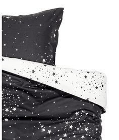 galaxy space star print duvet cover and pillowcases set twin full queen or king reversible black and white modern bedding king black