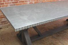Exquisite Pure Zinc Trestle Table