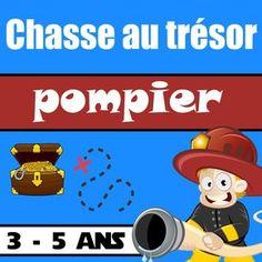 Cette chasse au trésor pompier maternelle a été créée pour jouer avec des enfants de 3 à 5 ans. C'est un jeu non compétitif où les enfants jouent ensemble !