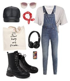 """""""Errands day 🍑💪🏽"""" by safiyat-aminu on Polyvore featuring T By Alexander Wang, Cheap Monday, Prada, Linda Farrow and rag & bone"""