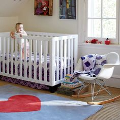 Bazaar Crib Bedding - Avery's crib sheets and rocking chair!
