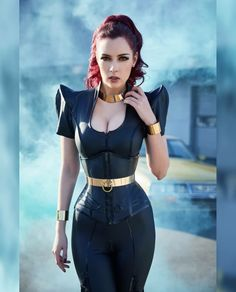Sexy Outfits, Fashion Outfits, Leder Outfits, Victorian Goth, Tiny Waist, Metal Girl, Matches Fashion, Sexy Latex, Costume