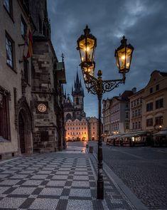 Street Lamp, Prague, Czech Republic by besttravelphotos