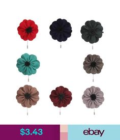 f55642022 Brooches Flax Flower Lapel Pin Stick Boutonniere Wedding Party Corsage  Men's Accessories #ebay #Fashion