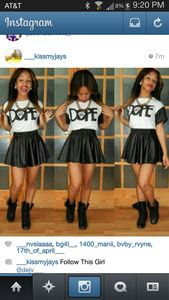 dope shirt skirt cute chain
