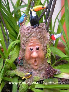 Miniature fairy tree with birds,mini garden, terrarium or dollhouse- two times TREASURY ITEM. $105.00, via Etsy.