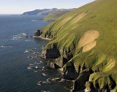commander island cliffs