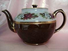 Teapot Sadler Staffordshire England Brown by CottageGardenVintage, $45.00