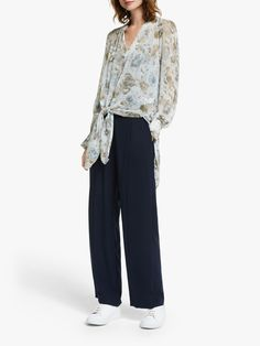 Buy Modern Rarity Winter Blooms Tie Front Top, Blue, 8 from our Women's Shirts & Tops range at John Lewis & Partners. Free Delivery on orders over Equestria Girls, Powerpuff Girls, Modern Wardrobe, Princess Celestia, Princess Bubblegum, Floral Sleeve, Front Tie Top, Tailored Trousers, Neck Pattern