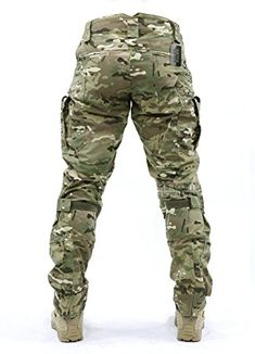 Backside of previous or following image. Amazon.com : Survival Tactical Gear Men's Airsoft Wargame Tactical Pants with Knee Protection System & Air Circulation System : Sports & Outdoors