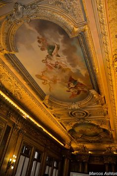 "MisteriosaBsAs: Edificio ""La Prensa"" II - Interiores Tango, Art Nouveau Arquitectura, Dome Ceiling, Most Beautiful Cities, Where The Heart Is, Ancient Art, Beautiful Interiors, South America, Future House"