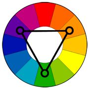 Color Wheel with triadic color scheme