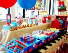thomas the train food | Train Boy Themed Birthday Party Planning Ideas Decorations