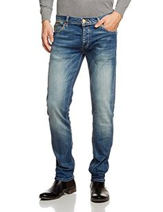 JACK & JONES Herren Slim Jeans JJTim Original Jos 094, Gr. W32/L32, Blau (Blue Denim)