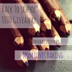 I've joined forces with a ton of awesome bloggers to bring you this amazing giveaway! Back to school time can be very expensive, so wouldn't it be great to win some extra cash! Two lucky readers will win $400! Is that fabulous or what! Entering is easy. Just follow the prompts below. What are you..