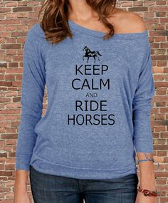 Keep Calm and Ride HORSES carry on Parody by BluebeardStudio, $32.00
