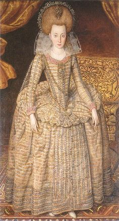 Elizabeth, Queen of Bohemia by Robert Peake, c.1610. (National Portrait Gallery, London)