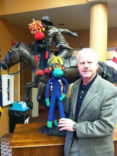 Yeee haaww! President and CEO of Gothenburg State Bank let NoMo and Phoenix hang out on the awesome Pony Express sculpture inside the bank. Thanks Matt...and great to meet you. ps...the interior renovation looks uber cool.