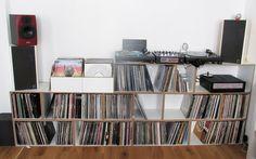 Modulares Schallplatten Regal
