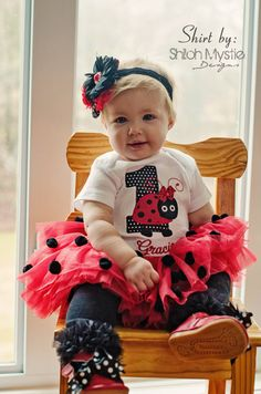 Ladybug shirt onesie-Ladybug birthday by TripleBStitches on Etsy