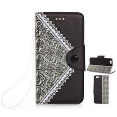 Hoy con el 46% de descuento. Llévalo por solo $13,500.De la flor patrón de textura de cuero de la PU y TPU caso de Material de la cubierta para el iPhone 6 Plus - 5.5 pulgadas.
