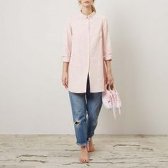Pink Stripe New Holly Shirt