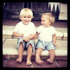 Catalina Island brothers nautical blonde baby boys love them