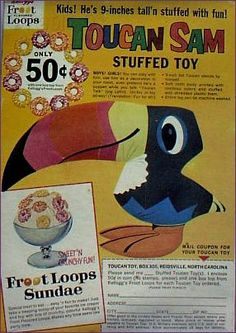 kellogs cereal retro toucan sam I used to have one of these