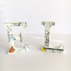 Peter Rabbit / Beatrix Potter Wooden Standing Letters   Kids