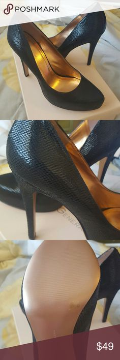 BCBGeneration Real Leather Faux Snakeskin Pumps BCBG Generation faux snakeskin size 10 pumps. 5 in heel. Real leather upper. Brand new in box (box is for same shoe different size). Ready to ship! Free gift with every order! BCBGeneration Shoes Heels