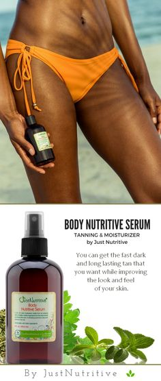 This tanning body nutritive serum is loaded with nature's vitamin rich oils for that gorgeous healthy glow and perfect nutritive bronzed tan where you look and feel fabulous.