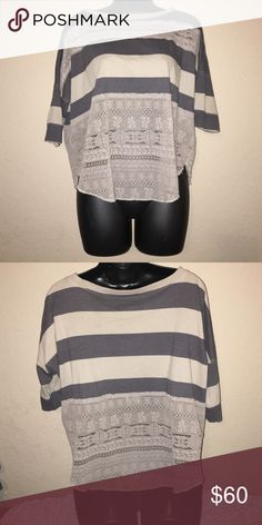 Free People Classic Stripe & Lace EUC wore once.  Circa 2010/2011 season Free People Tops Blouses