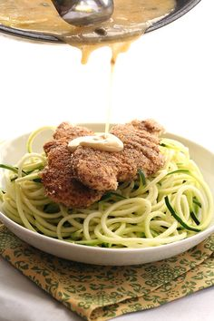 Chicken Piccata with Zucchini Noodles from @dreamaboutfood