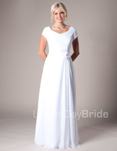 lds morman wedding dress