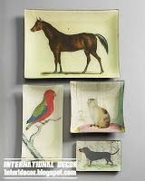 Serving trays on the walls unusual decor ideas