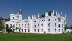Strawberry Hill House, often referred to simply as Strawberry Hill, is the Gothic Revival villa that was built in Twickenham, London by Horace Walpole from 1749.